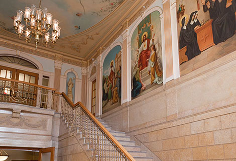 Chapel staircase