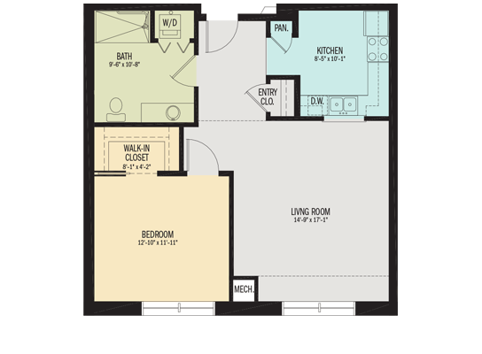 The Forsythia Apartment Floor Plan