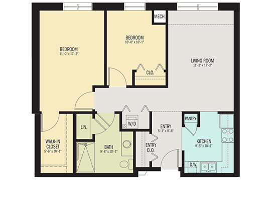 The Jasmine Apartment Floor Plan